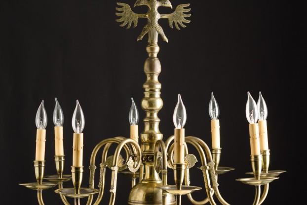Double Eagle Brass Chandelier