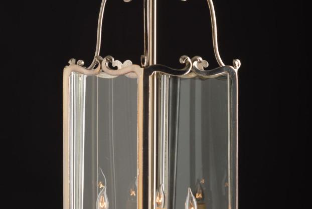 Hexagonal Silver Plate Lantern