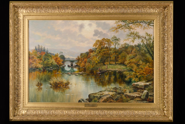 River Landscape by H.M. Livens