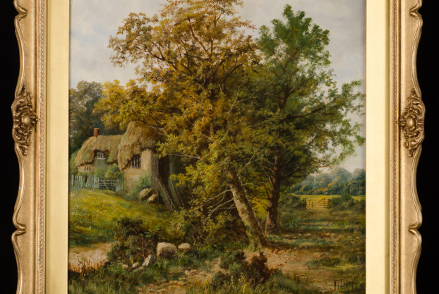 Landscape with Cottage by O.T. Clark