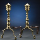 Pair of 19th Century Brass Andirons