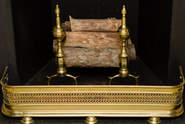 Brass Fender with Tray