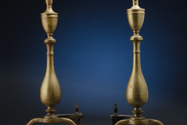 Pair of Urn Shaped Andirons