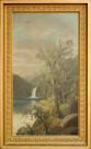 19th Century Vertical Landscape By F.E. Lillard