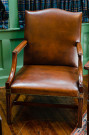 Brown Hide Gainsborough Chair