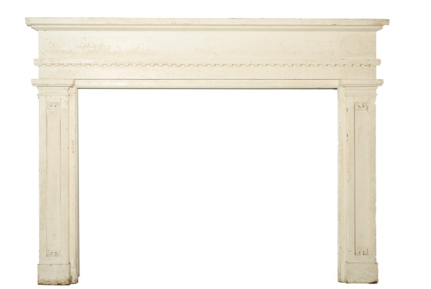 Painted White Mantel