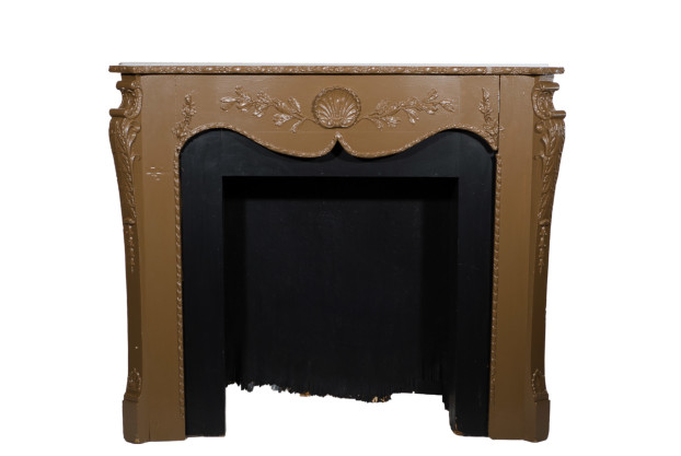 Brown Painted Mantel