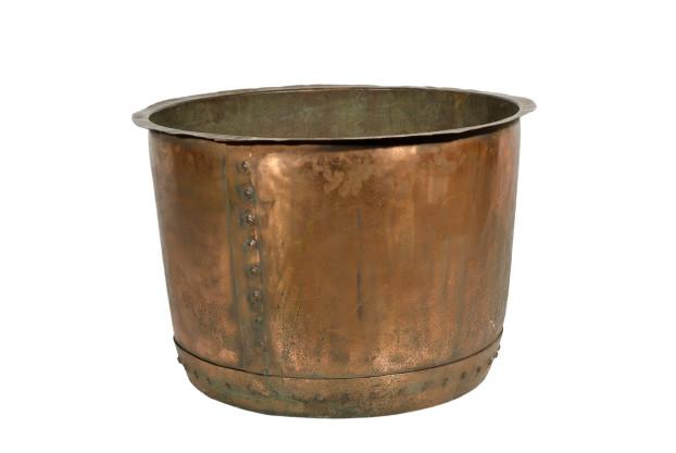 Large English Copper Cauldron