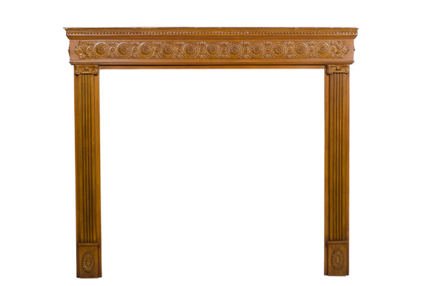 Carved Mantel