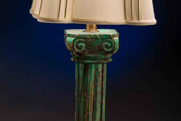 Custom Hand Carved Baluster Lamp