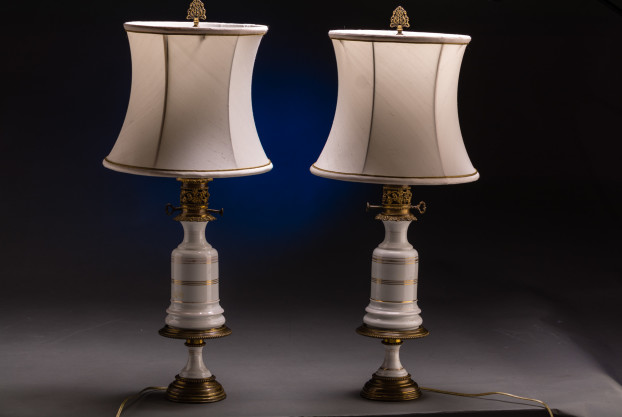 A Pair Of French Oil Lamps