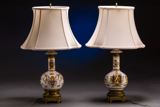A Pair Of French Fiance Vase Lamps