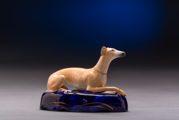 English Staffordshire Whippet Ink Well