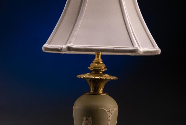 Wedgewood Type Oil Lamp