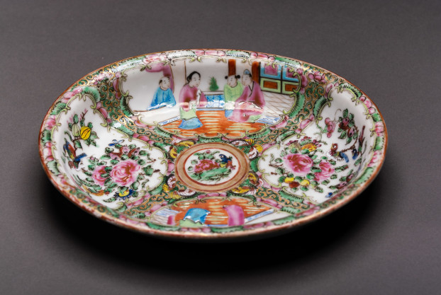 Small Rose Medallion Oval Serving Dish