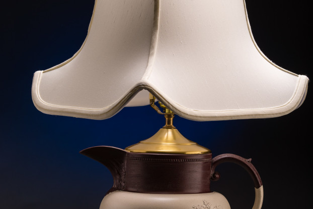Wedgewood Parian Ware Pitcher Lamp