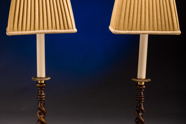 A Pair Of English Barley Twist Lamps