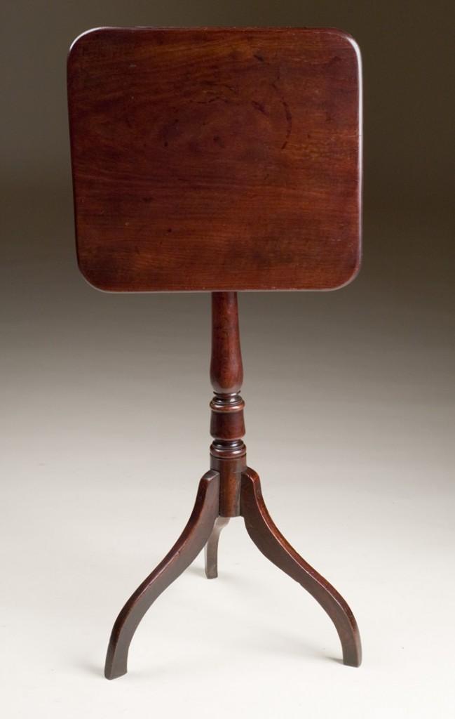 Antique Square Tilt Top Table