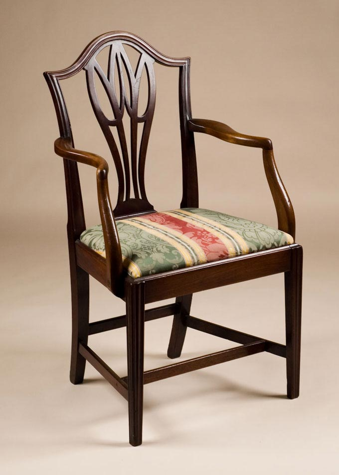Antique Hepplewhite Style Armchair