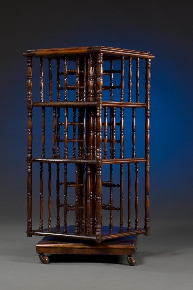 Antique Revolving Book Stand