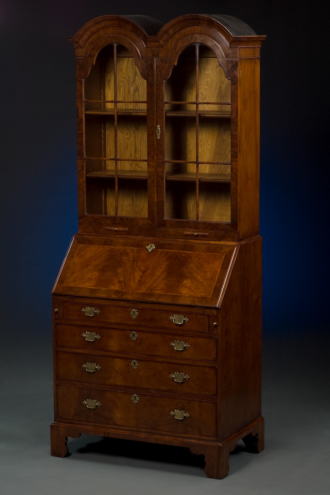 queen anne style bureau cabinet