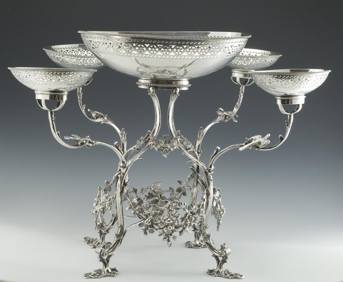 Antique Silver Epergne