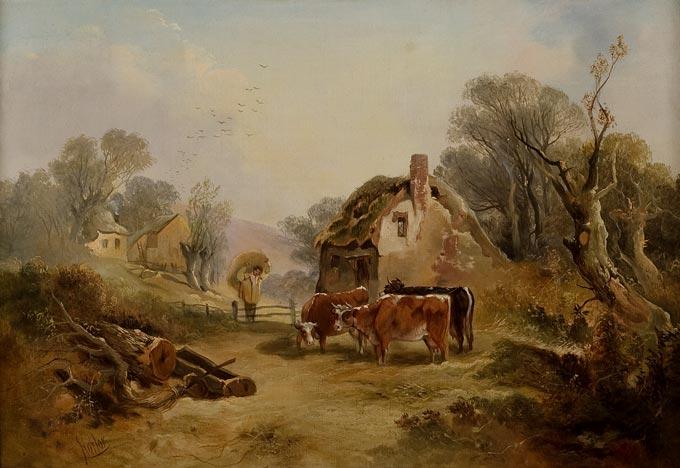 19th Century Farm Scene -SOLD