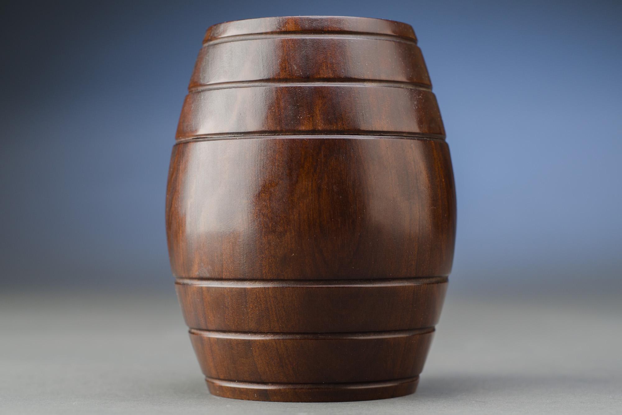 Barrel Shaped Antique Tobacco Box
