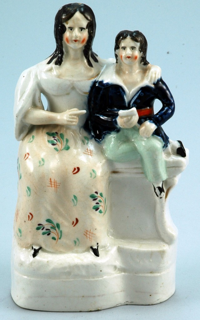 Antique Staffordshire Pottery Couple