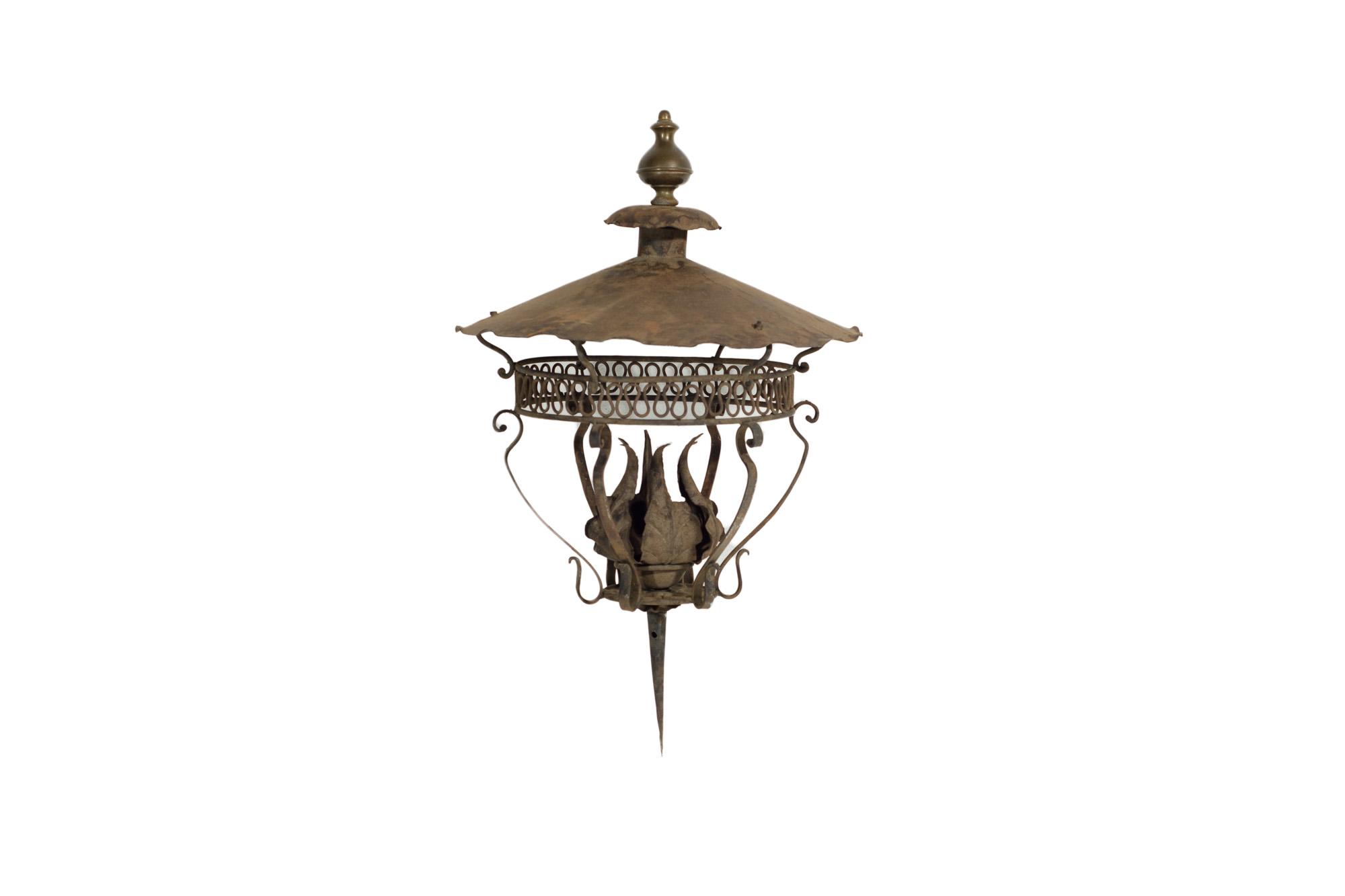 Wrought Iron Garden Lantern